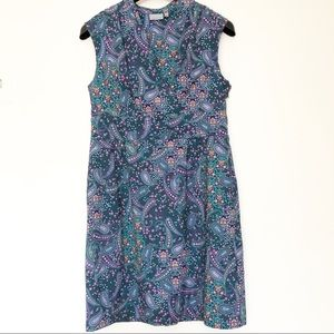 Athleta vibrant paisley green dress size 12